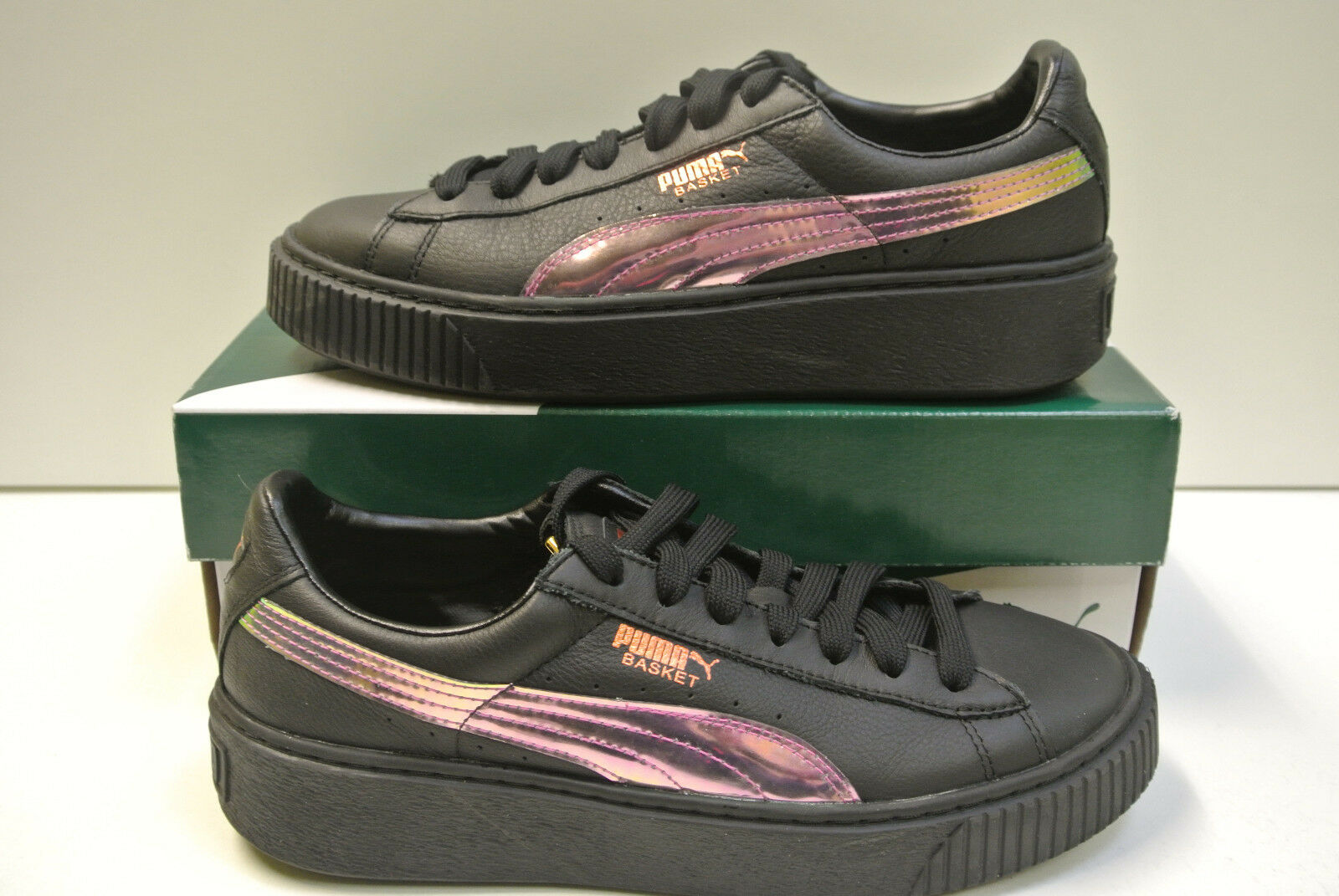 Puma Basket Platfrom Rainbow Jr Size Selectable New & Orig Pack 364529 01