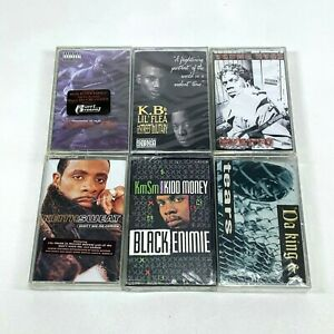 Lot-6-Cassette-Tapes-Rap-Hip-Hop-90-039-s-Ruff-Ryders-Young-Kyoz-Keith-Sweat-SEALED