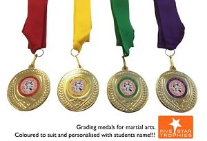 50-x-Karate-Judo-Medals-Inc-YOUR-logo-and-choice-of-ribbon