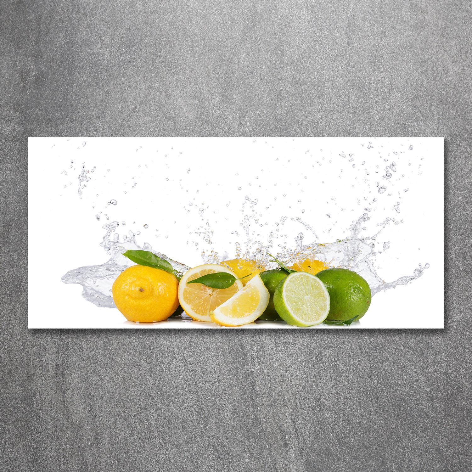 Glas-Bild Wandbilder Druck auf Glas 120x60 Deko Essen & Getränke Zitrus Wasser