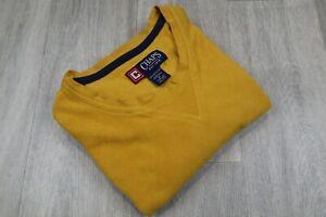 Mens-Vintage-CHAPS-Yellow-Sweatshirt-Fleece-Size-M