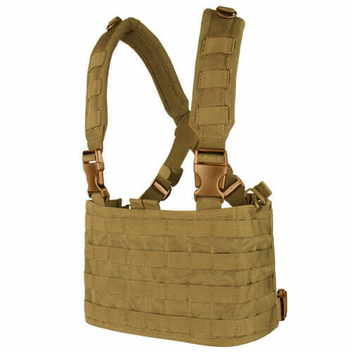 CONDOR Tactical OPS Chest Rig MOLLE Airsfot Vest Carrier Coyote Brown