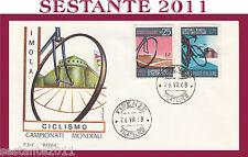 ITALIA FDC ROMA CAMPIONATI MONDIALI CICLISMO IMOLA 1968  ANNULLO FIRENZE G132