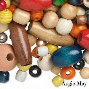1 Pound Wholesale Bulk Lot Jumbo Large Craft Wood Beads