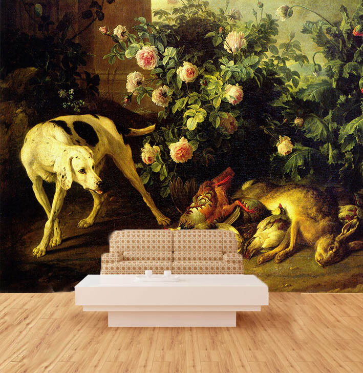 3D Flowers Bed Dog Wall Paper Wall Print Decal Decal Decal Wall AJ WALLPAPER CA 7c5170