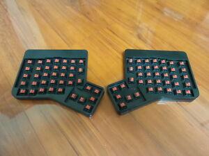 Ergodox-ergonomique-Mechanical-Keyboard-Cherry-MX-Red-entierement-assembles-sans-cle-Bouchons
