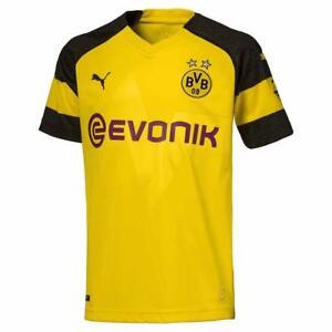 4617771a02be Image is loading Puma-Borussia-Dortmund-Home-Junior-Short-Sleeve-Jersey-