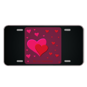 Custom-License-Plate-With-Be-My-Valentine-Design-Add-Names