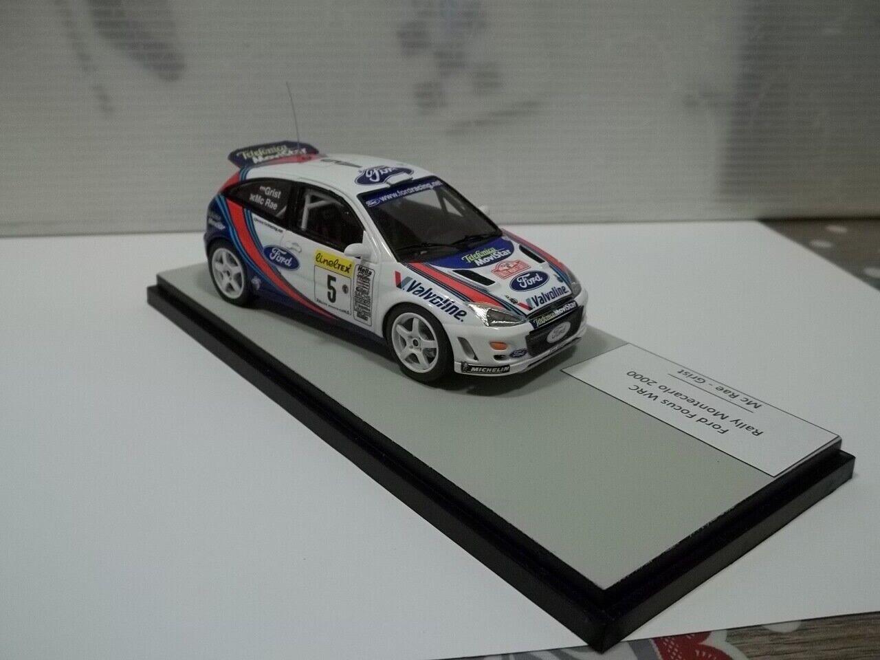 Racing 43 Ford Focus WRC Ralli of Montecarlo 2000 mc rae