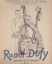 Raoul Dufy (1877-1953) Affiche lithographiée Galerie Louis Carré 1947  P1567