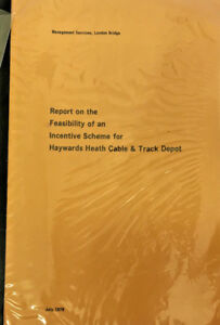 VINTAGE-BRITISH-RAIL-SOUTHER-REGION-FEASIBILITY-REPORT-HAYWARDS-HEATH-CABLE-TRAC