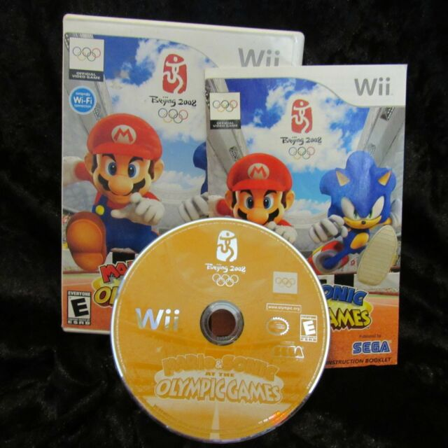 Mario & Sonic at the Olympic Games Nintendo Wii 2007 Complete Game Tested Works