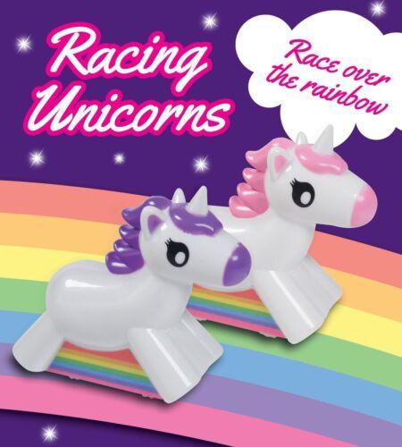 WIND Up RACING Unicorni 2 pacco gara Over The Rainbow Unicorno Regalo Giocattolo