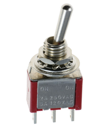 Min Miniatura Interruptor Interruptor Coche Rallas Barco Spst Spdt