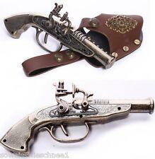 RQ-BL Steampunk Vintage Feuerzeug Waffe Holster Pistole Gothic LARP Toy Gun GS03