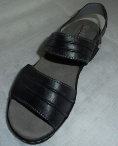 separation shoes 420f6 7de0f Details zu SCHUHE DAMENSCHUHE SANDALETTE SANDALE LEDER REFLEXAN GR 36 ( 3,5  ) WEITE G
