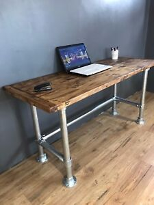 Image Is Loading PC Table Computer Desk Writing Desk Reclaimed Wood