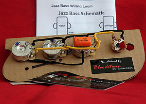 ready built fender usa jazz j bass wiring upgrade loom harness rh ebay co uk