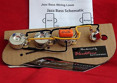 Full Loom Ready Built Fender USA Jazz Bass Wiring upgrade harness