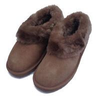 Deluxe Ladies Rounded Sheepskin Slipper Boot - Mink