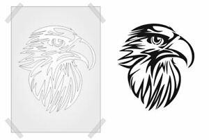 EAGLE HEAD Stencil BIRD template CRAFT ART ALL SIZES A7 - A4 RE-USABLE