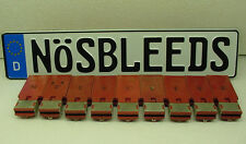 custom text VW european German car license plate tag bmw audi porsche tessla 3 5