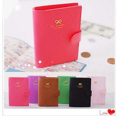 1pc Fashion Bowknot Crown Buckles E-Passport Protect Cover Passport Case Holder