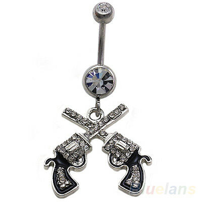 Women Sexy Western Cowgirl Dangle Belly Button Navel Ring Body Piercing Jewelry
