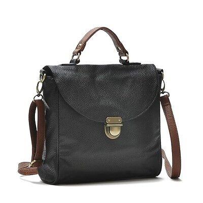 Black Cute Flap Shoulder Cross Body Messenger Bag Vintage Purse Mail Bag