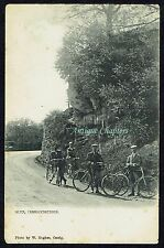 c.1910 Bicycles Glyn Cerrigydrudion Clwyd Cyclists Postcard B70