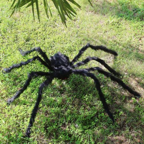 200CM Plush Giant Spider Decoration Halloween Haunted House Garden Props