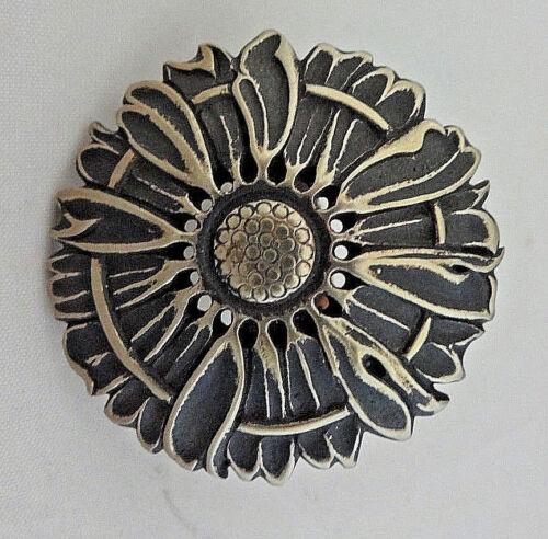 "Jeremiah Watt Scarf Ring Slide Bronze  Sunflower Concho 1 1//2/"" Wild Rag Bandana"