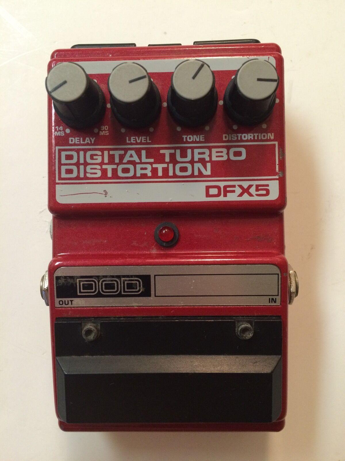 Dod Digitech dfx5 Digital Turbo Distorsión Rara Vintage Vintage Vintage Guitarra Pedal De Efecto  preferente