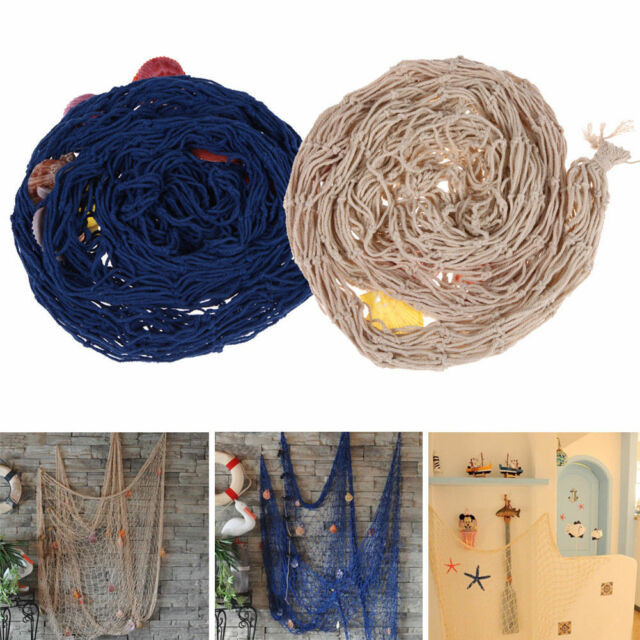 Nautical Fishing Net Decorative Seaside Wall Beach Party Sea Shell Decor