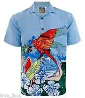 New Mens True Face Hawaiian Fancy Dress Summer Beach Printed Generous Fit Shirt