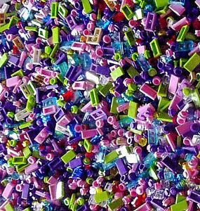 500-RANDOM-LEGO-GIRL-FRIEND-LEGOS-SMALL-DETAIL-PIECES-Purple-pink-lime-BULK