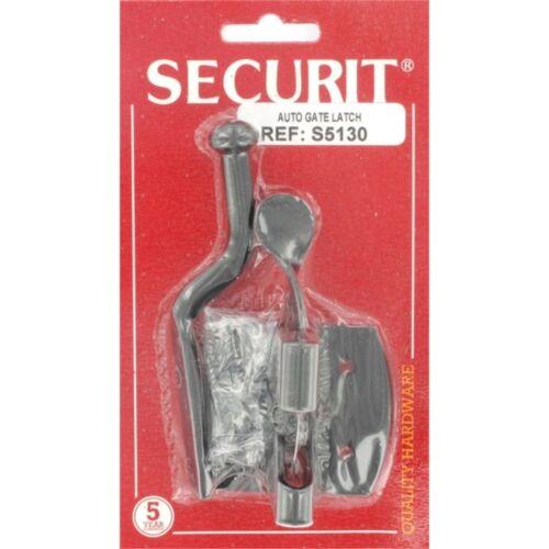 Securit Auto Gate Latch, Black