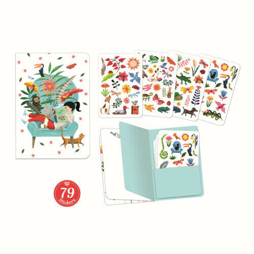 Sarah Notizbuch Mit 79 Sticker Djeco