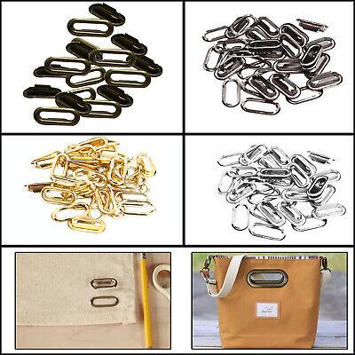 100pcs Gold Iron Eyelets Grommet Washers Purses Bags Clothing Crafts Decoration