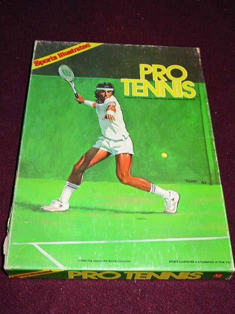 Avalon Hill Sports Illustrated - PRO TENNIS - 1983 McEnroe Connors Everde Martina