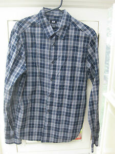 H&M Herrenhemd Hemd grau blau weiß kariert M