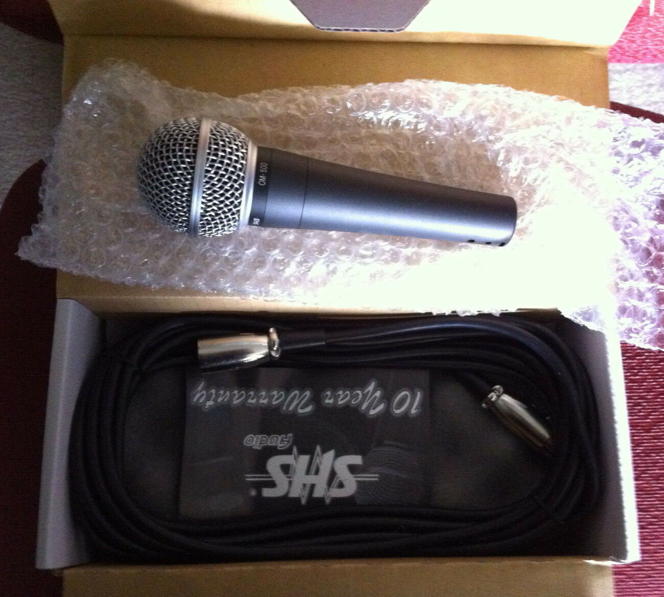 SHS OM-500 Professional vocal microphone, compares directly to Shure SM-58