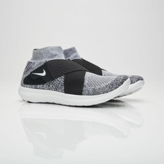 Running - Nike Free RN Motion Flyknit 2017 Mens BlackAnthraciteVoltDark Grey