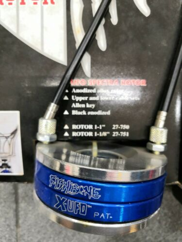 "Fishbone Bmx Rotor system X-UFO black//purple//blue Oldschool 1-1//8/"""