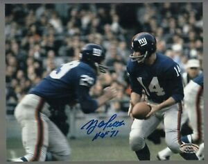 Y-A-Tittle-Signed-Auto-Color-Giants-8x10-Photo-W-HOF-71-SCH-Auth-27685-48
