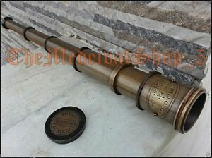MARITIME-TELESCOPE-MARINE-ANTIQUE-BRASS-PIRATE-SPYGLASS-VINTAGE-SCOPE-HANDMADE