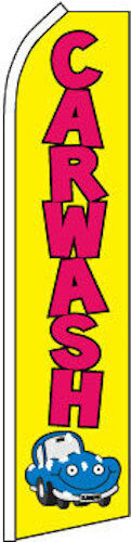 CAR WASH super flag swooper polyester ylw