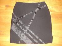 Grace Dane Lewis Black Lined Skirt Womens 10