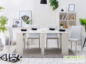 Dettagli su Tavolo consolle allungabile DIADEMA Gihome® 3 metri bianco  salvaspazio sala