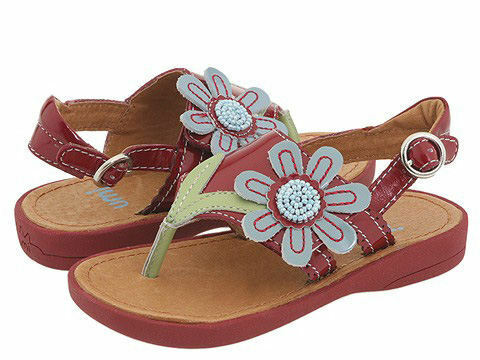 """NIB Girls UMI /""""Lucy/"""" RED Leather Sandals 23 24 25 NEW"""